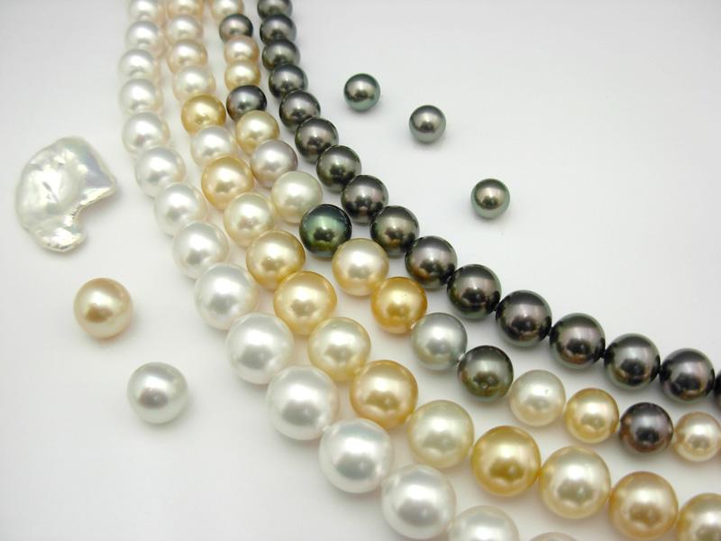 南洋真珠(白蝶・タヒチ・ゴールド)、アコヤ真珠各種
